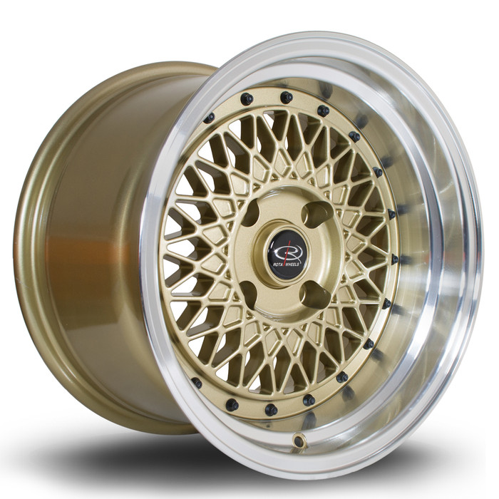 Rota Wired 15x9 ET0 4x114.3 Gold www.srbpower.com