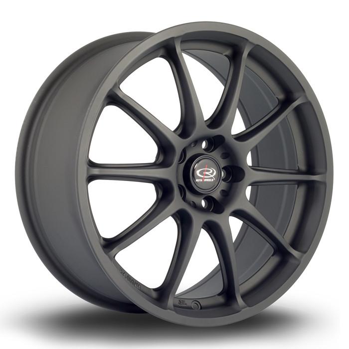 Rota Gra 17x7.5 ET48 5x100 Flat Black www.srbpower.com