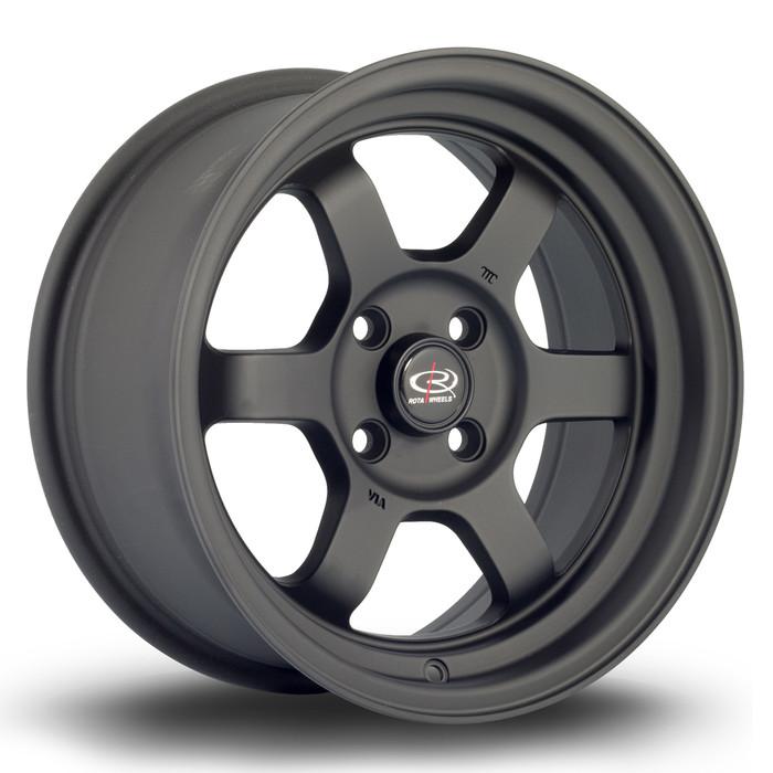 Rota Grid-V 15x7 ET20 4x100 Flat Black www.srbpower.com
