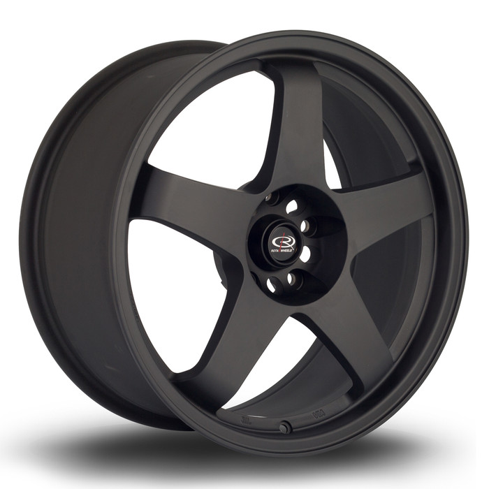 Rota GTR 18x8.5 ET30 5x114.3 Flat Black www.srbpower.com