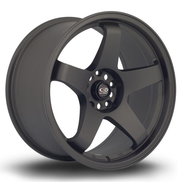 Rota GTR 18x9.5 ET30 5x114.3 Flat Black www.srbpower.com