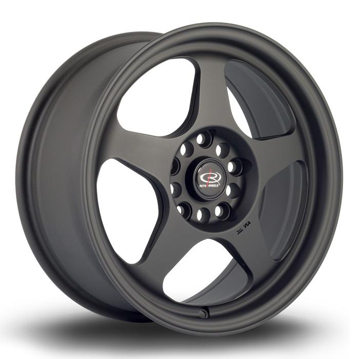 Rota Slip 16x7 ET40 5x114.3 Flat Black www.srbpower.com