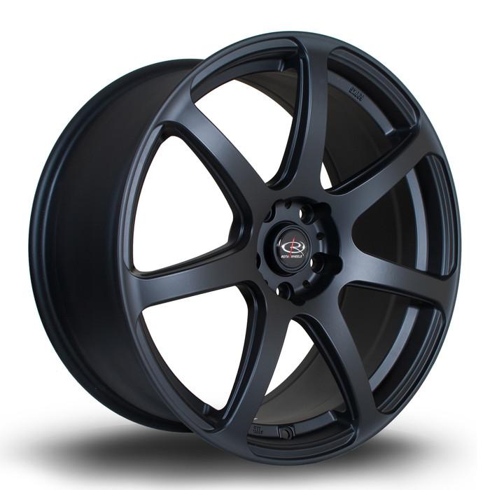 Rota ProR 19x8.5 ET45 5x112 Flat Black www.srbpower.com