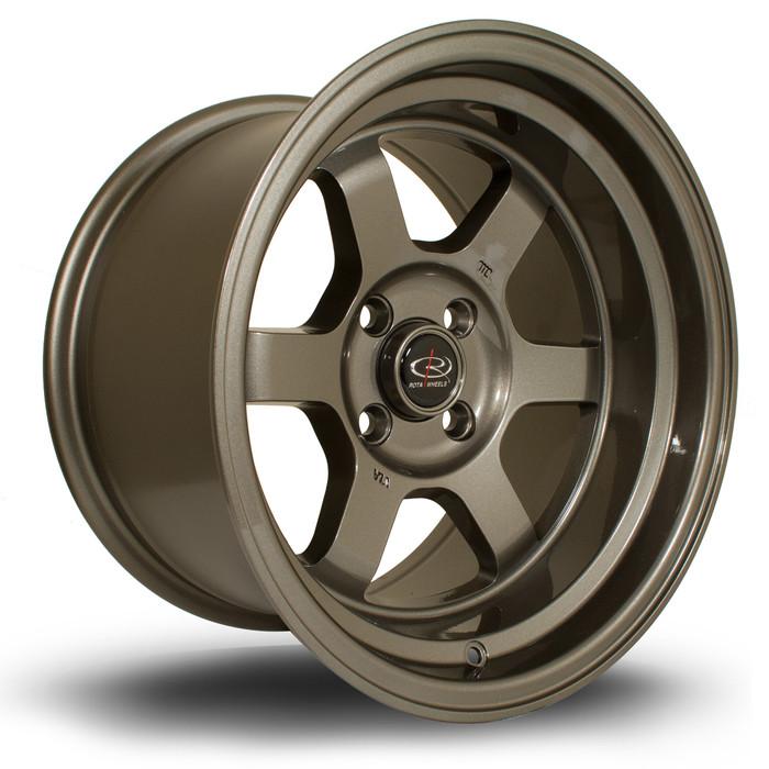 Rota Grid-V 15x9 ET0 4x100 Bronze