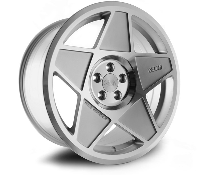 19x9.5 3SDM 0.05 5x120 ET40 CB72.6 Silver/cut - max load 695kg