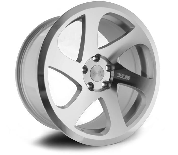 18x8.5 3SDM 0.06/204 5x120 ET35 CB72.6 Silver/Cut - max load 815kg