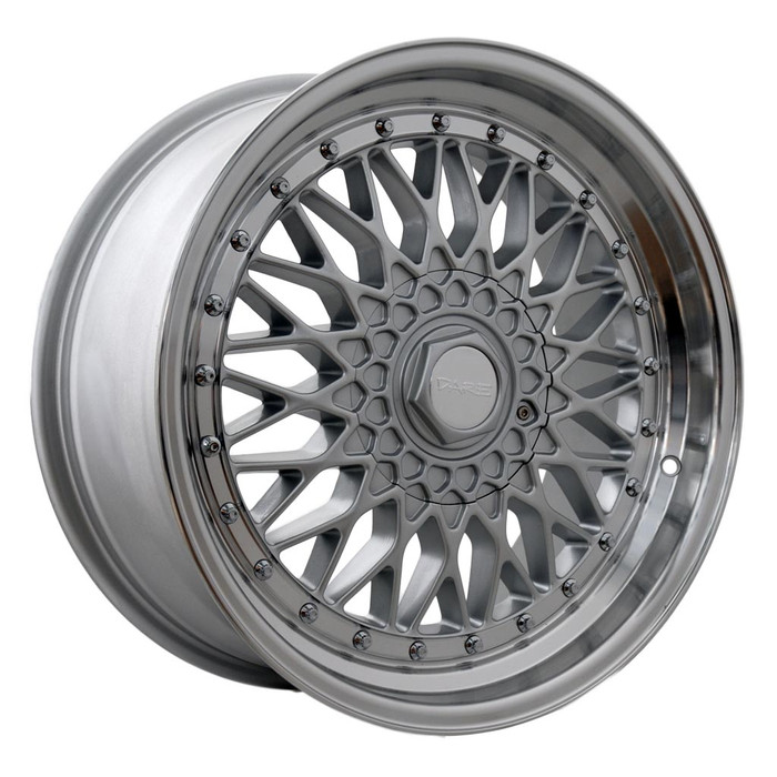 15x7.0 DRRS 4x100/108 ET20 CB73.1 silver polished lip - max load 690kg