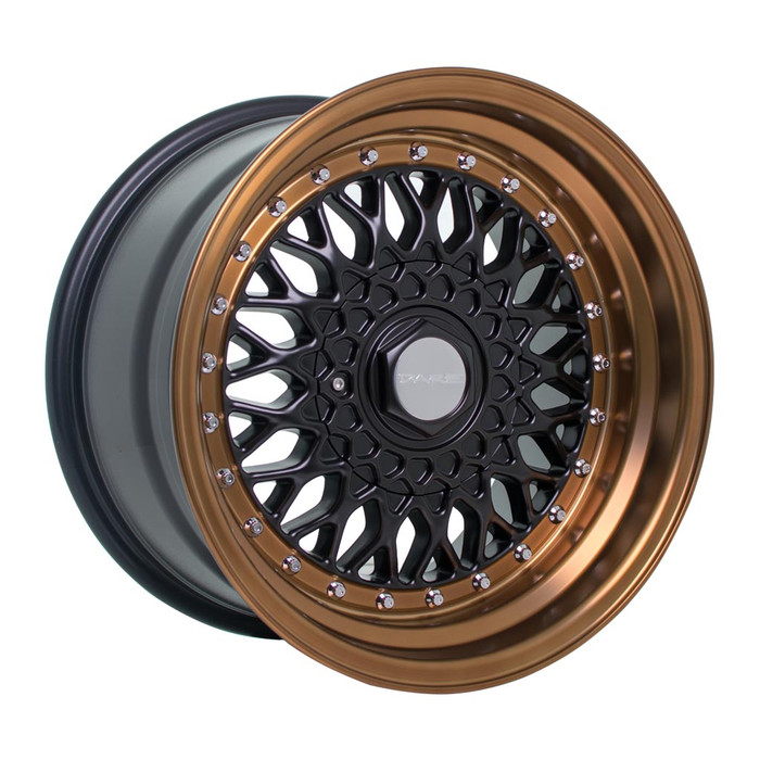16x8.0 DRRS 4x100-108 ET25 CB73.1 Matt black / bronze lip - max load 690kg