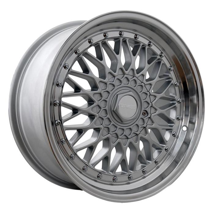 16x9.0 DRRS 5x112/120 ET15 CB74.1 Silver polished lip chrome rivets - max load 690kg