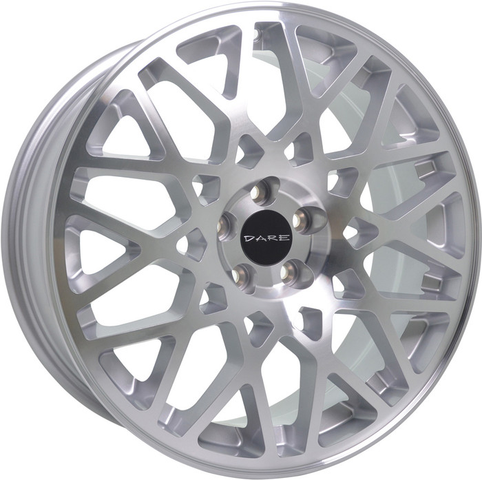 18x8.0 DR-LG2 5x100 ET35 CB73.1 - Silver / polished face - max load 690kg