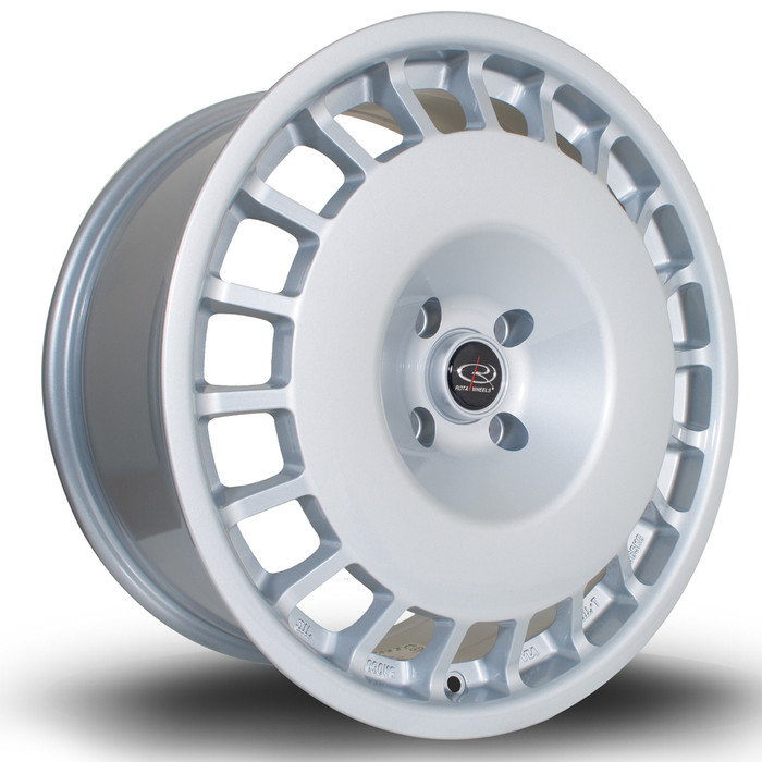 Rota D154 18x8.5 ET35 4x108 Silver srbpower.com