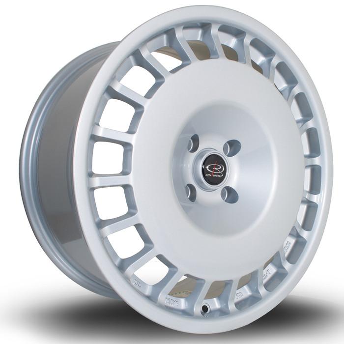 Rota D154 18x8.5 ET45 5x112 Silver srbpower.com