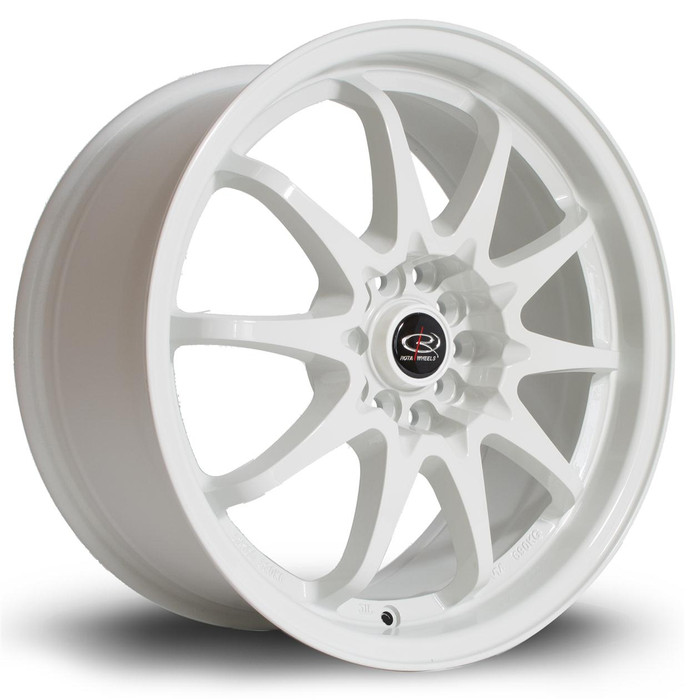 Rota Fight 17x8 ET44 5x100/114 White srbpower.com