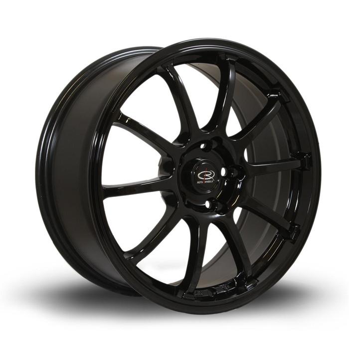 Rota Force 17x8 ET35 5x100 Black srbpower.com