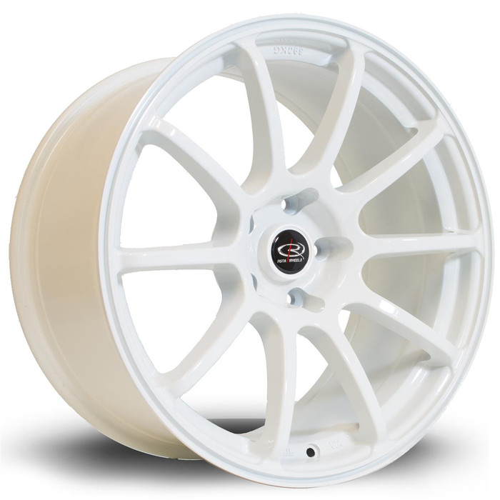 Rota Force 18x9 ET35 5x108 White srbpower.com