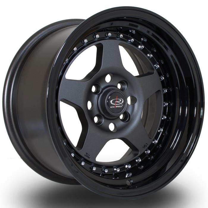Rota Kyusha 15x8 ET0 4x100 FGMBlack srbpower.com