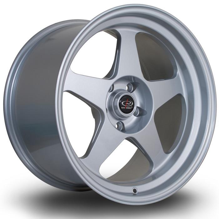 Rota Slip 18x10.5 ET12 5x114 Silver srbpower.com