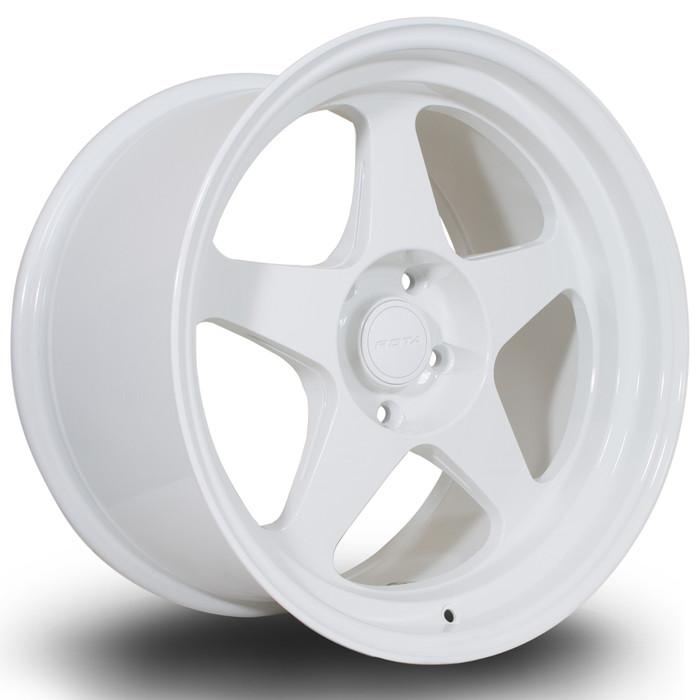 Rota Slip 18x10.5 ET22 5x120 White srbpower.com