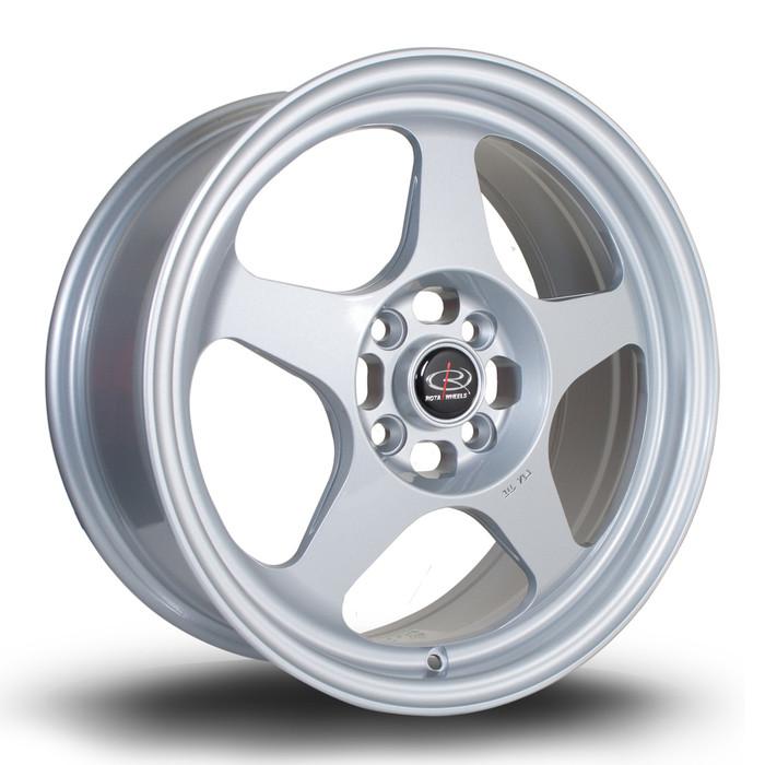 Rota Slip 16x7 ET40 4x100 Silver srbpower.com