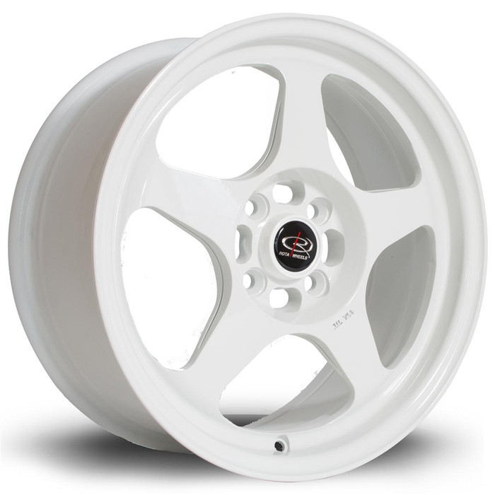Rota Slip 16x7 ET40 5x114 White srbpower.com