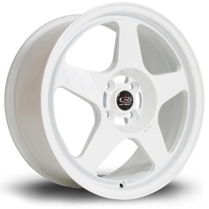 Rota Slip 17x7.5 ET45 4x100 White srbpower.com