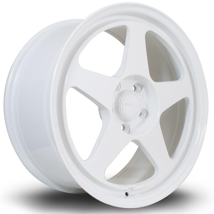 Rota Slip 18x8.5 ET42 5x108 White srbpower.com