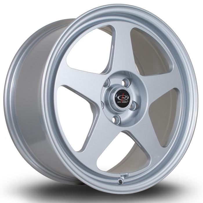 Rota Slip 18x8.5 ET35 5x100 Silver srbpower.com