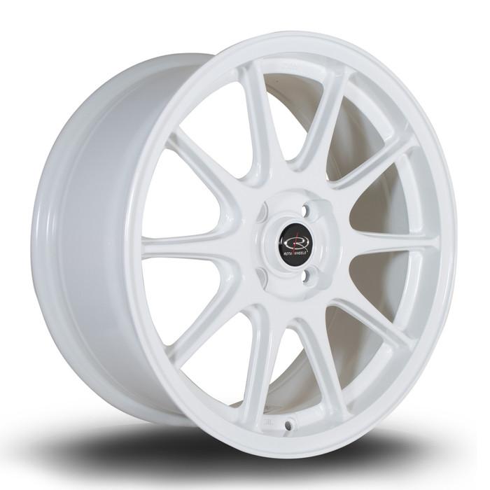 Rota Strike 17x7.5 ET40 4x108 White srbpower.com