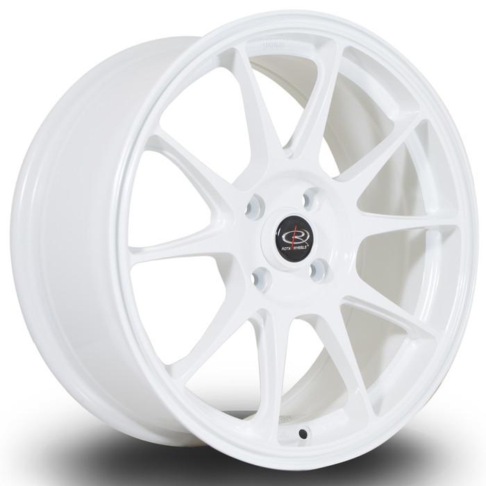 Rota Titan 17x7.5 ET40 4x108 White srbpower.com