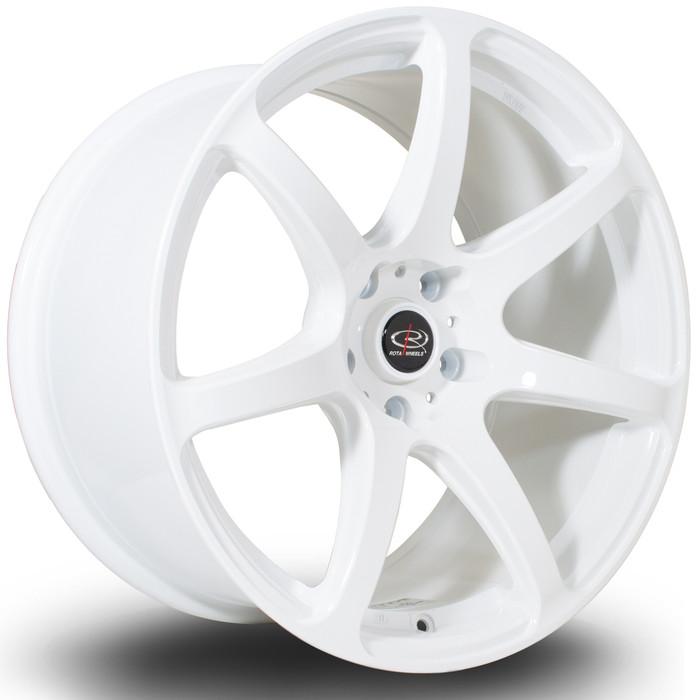 Rota ProR 18x9.5 ET38 5x114 White srbpower.com