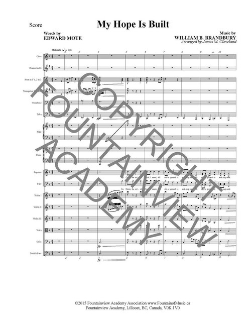 My Hope Is Built - Score and Instrumental Parts