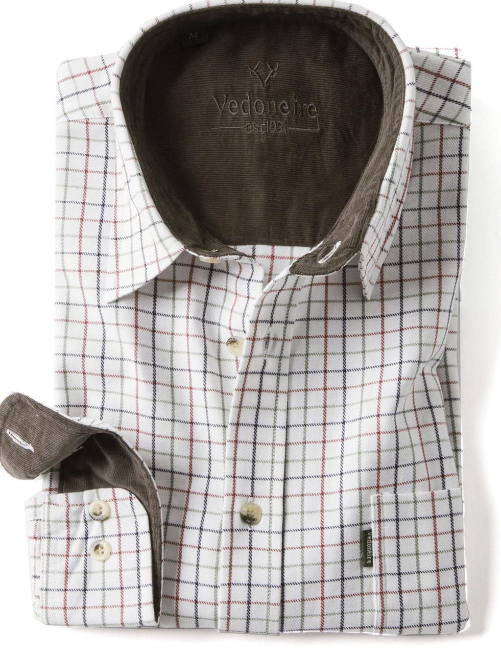 16c5e5b4 Mens Brushed Cotton Tattersall Shirt (2280) Navy Tattersall