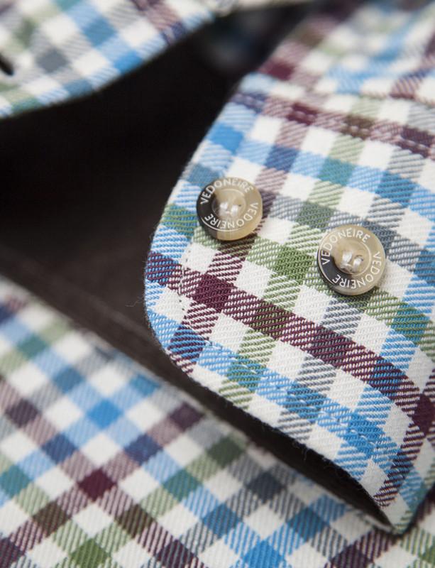 a1b3567c ... Maya; Men's Brushed Cotton Tattersall Shirt (2280) ...
