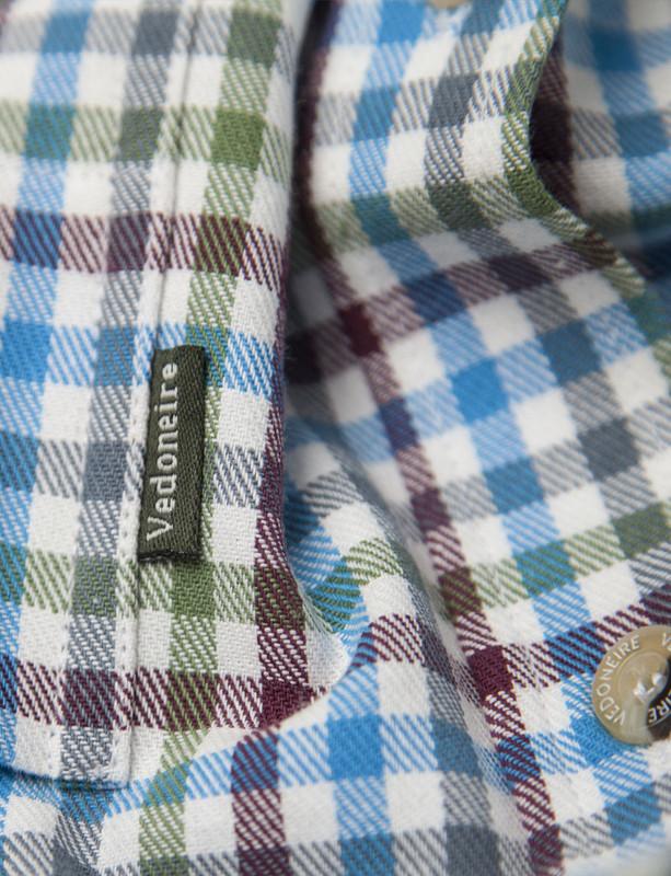 8545f61b ... Men's Brushed Cotton Tattersall Shirt (2280) Maya; Maya
