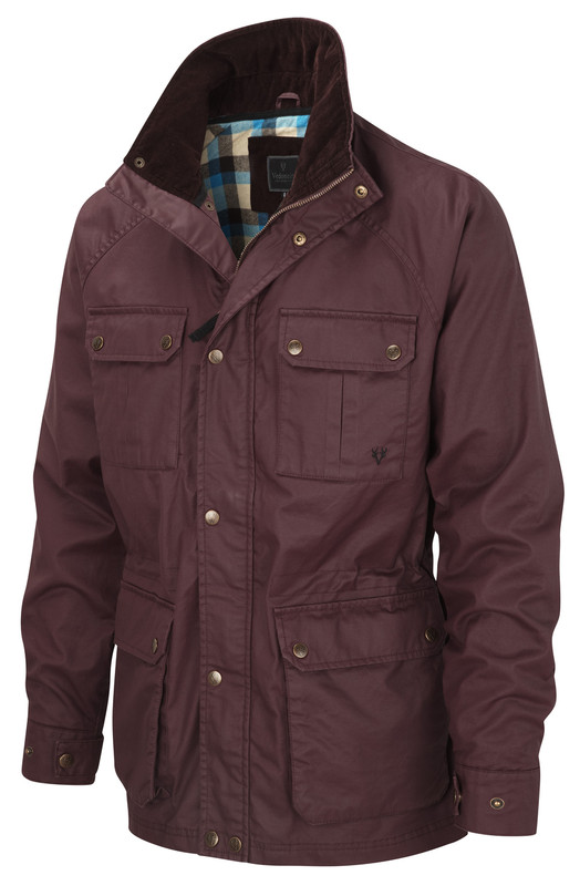 05ffa0e06d4 Mens Wax Jacket by Vedoneire of Ireland in Burgundy