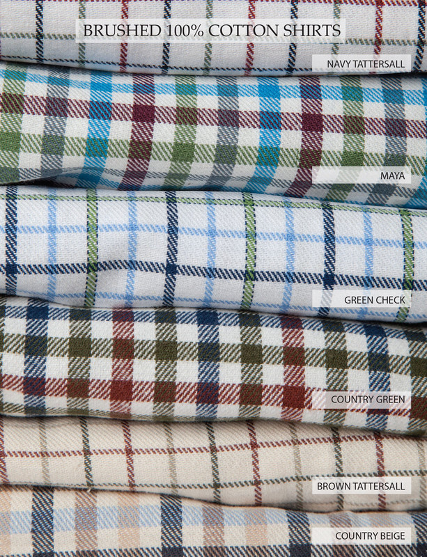 24db5a36 Mens Brushed Cotton Tattersall Shirt (2280) Navy Tattersall · Colours  available: Navy Tattersall, Maya, Green Check, Country Green, Brown  Tattersall
