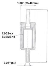Disposable Inline Filters Dimensions