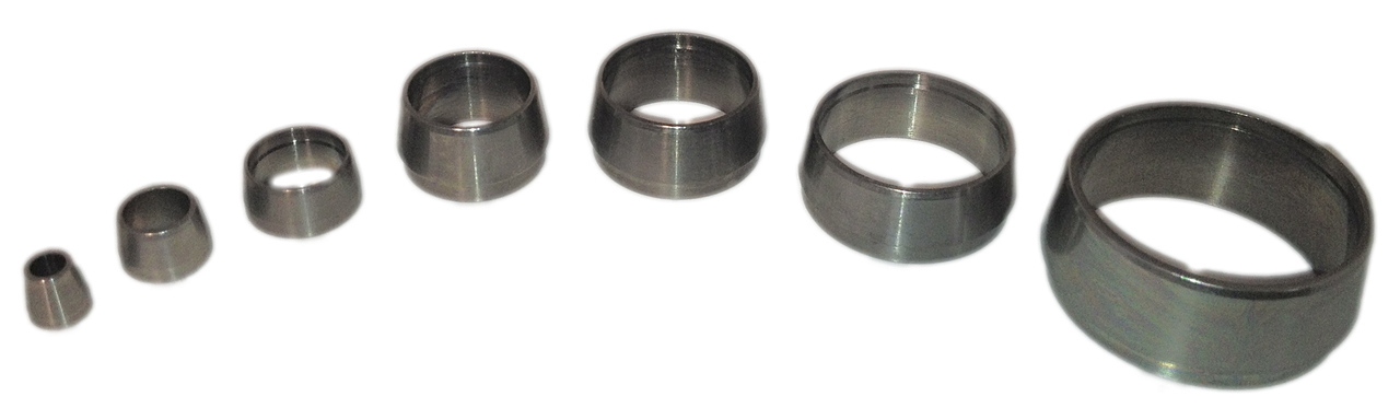 Stainless Steel Teflon and Graphite Ferrules