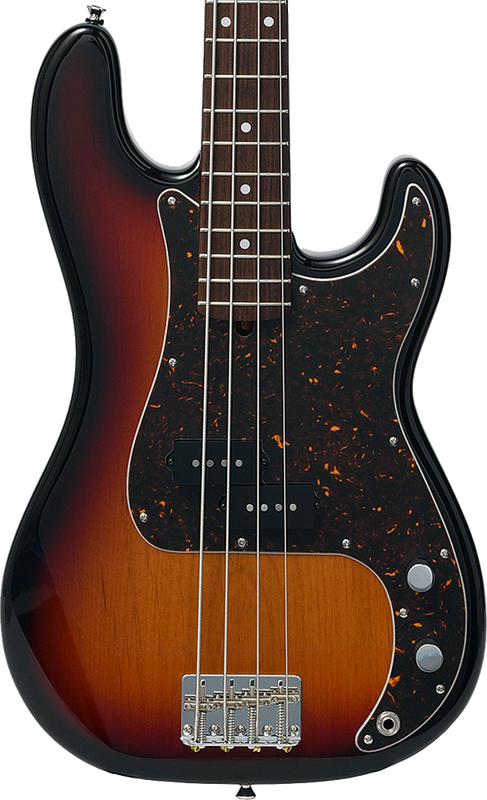 Bacchus Craft Japan Series - BPB-100EX - Limited Edition P-Bass - 3 Tone Sunburst with Rosewood Fingerboard