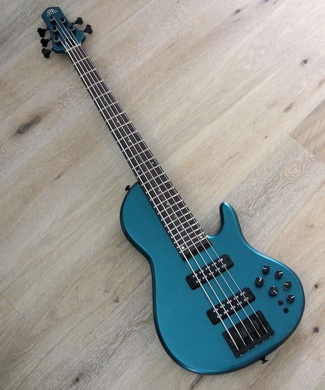 STR Guitars - Sierra SC5-MAHO - 5 String Active Bass - Custom Model With Mahogany Body In Dodger Blue Finish