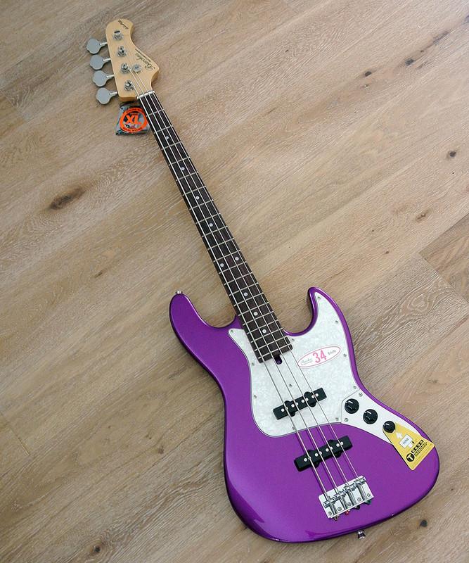 Bacchus Global Series - WL-434 Purpple Heart Limited - 4 String Bass - Metallic Purple