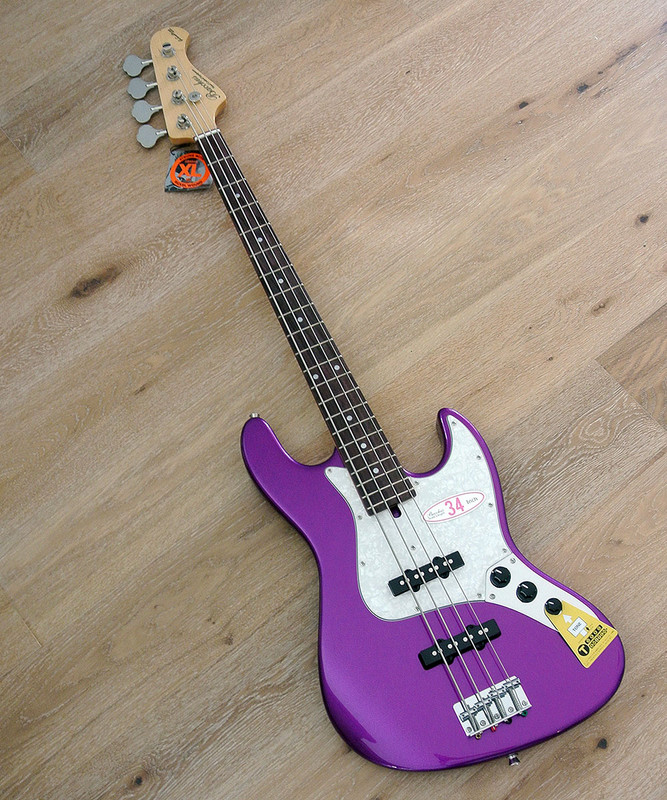 Bacchus Global Series - WL-434 Purpple Heart Limited - 4 String Bass - Metallic Purple