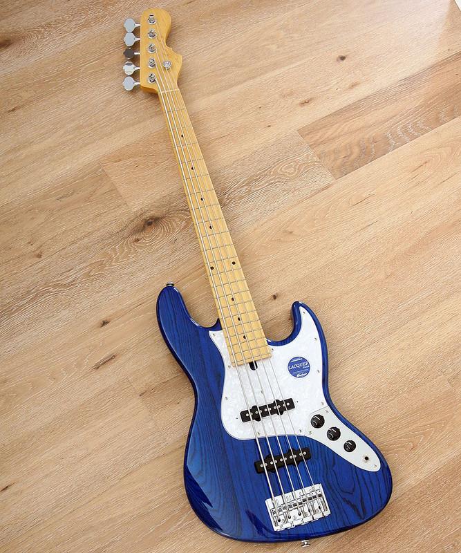 Momose Custom Guitars - MJ-Five 2-STD / M - 5 string Bass in Transparent Blue