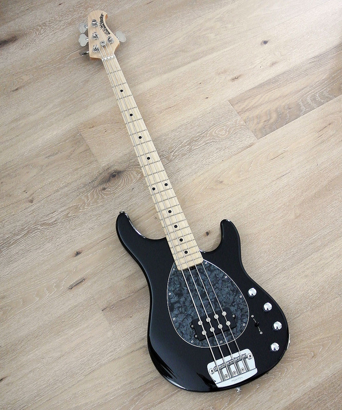 Ernie Ball Music Man Sterling H 4-String Bass in Black Finish Maple Fretboard - NEW Condition