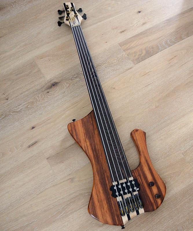 MG New Fretless Custom 5 - 5 String Fretless Bass - Made in USA