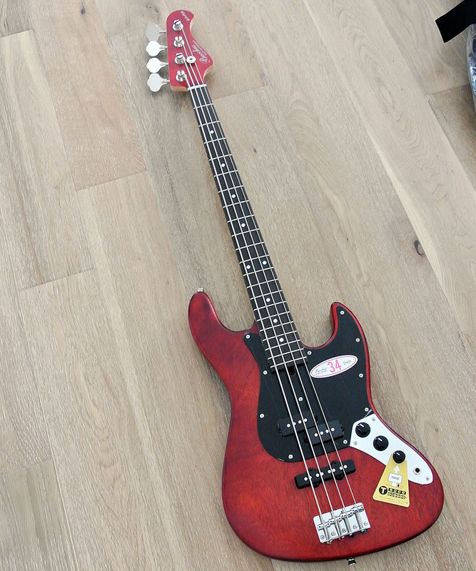 Bacchus Global Series - WL-434 Mahogany PJ - 4 String Bass - Red Oil Finish
