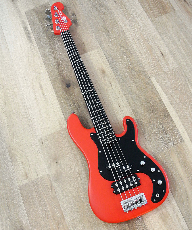 Maruszczyk Instruments - JAKE 5p+ - 5 String Bass in Fiesta Red Finish