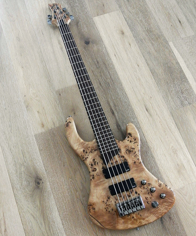 Esh - Sovereign 5  - 5 String Bass with Burl Poplar Top