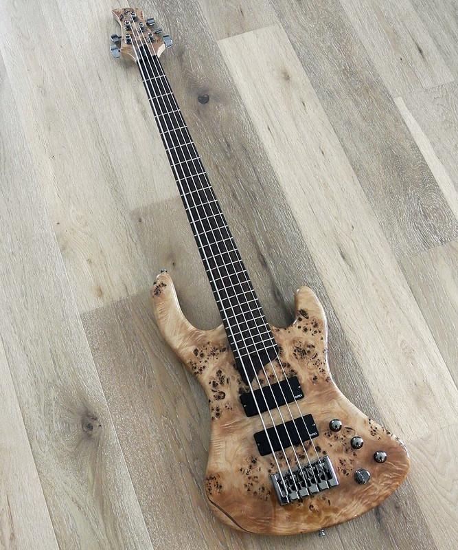 Esh - Sovereign 5  - 5 String Bass with Burl Poplar Top