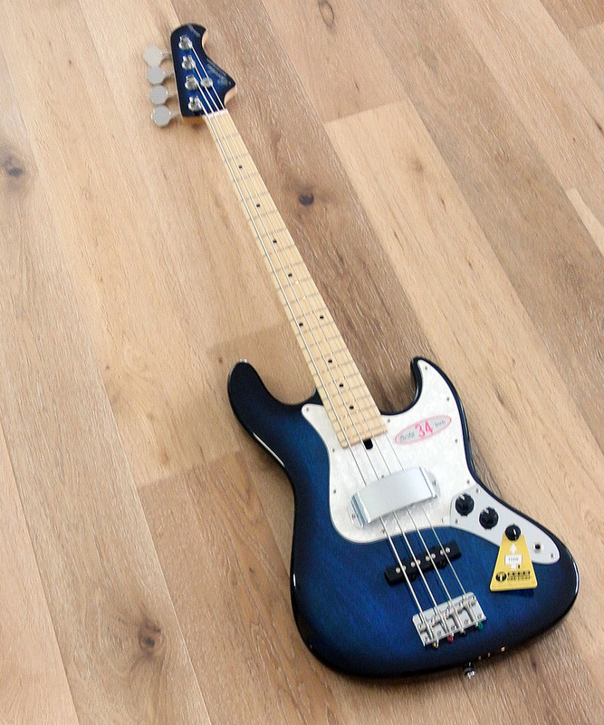 Bacchus Global Series - WL-434  -  4 String Bass -  Blueburst Finish